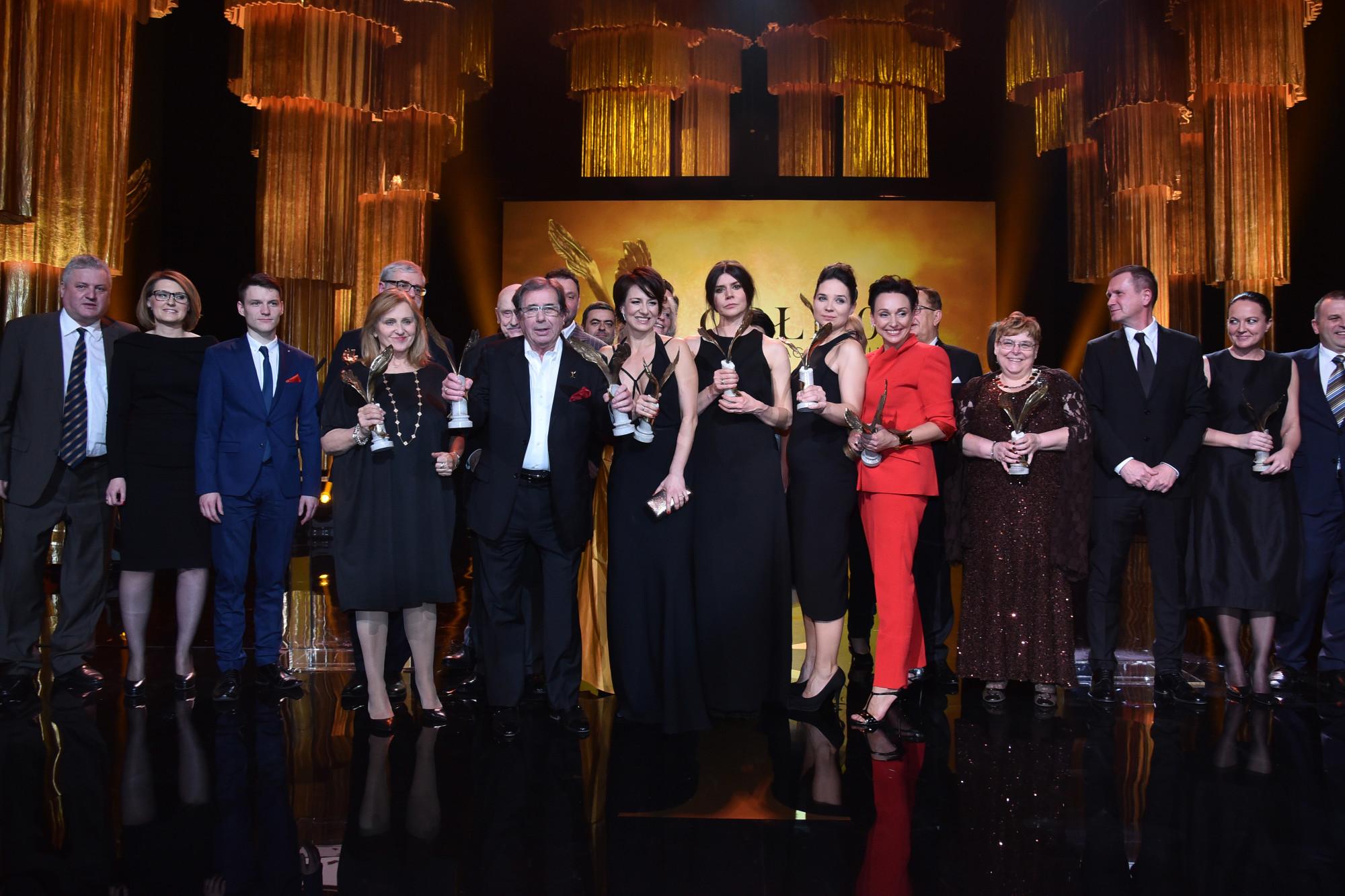 Foto: Mateusz Jagielski / East News  Warszawa 07.03.2016  Gala rozdania Polskich Nagrod Filmowych ORLY 2016 N/z: laureaci
